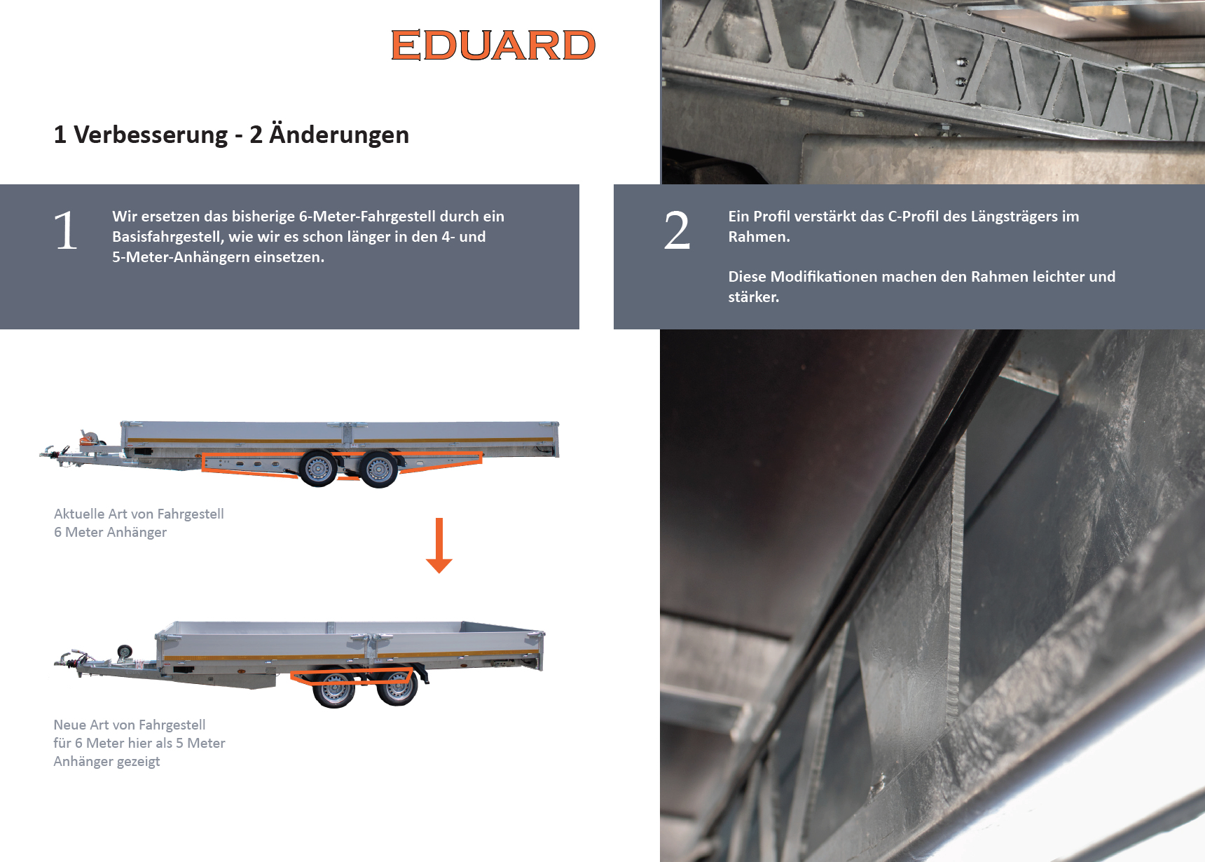 TRELEX PKW Anhänger. Eduard HL 6x2 m 3000 kg
